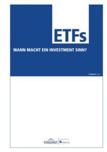 Deckblatt Broschüre ETF