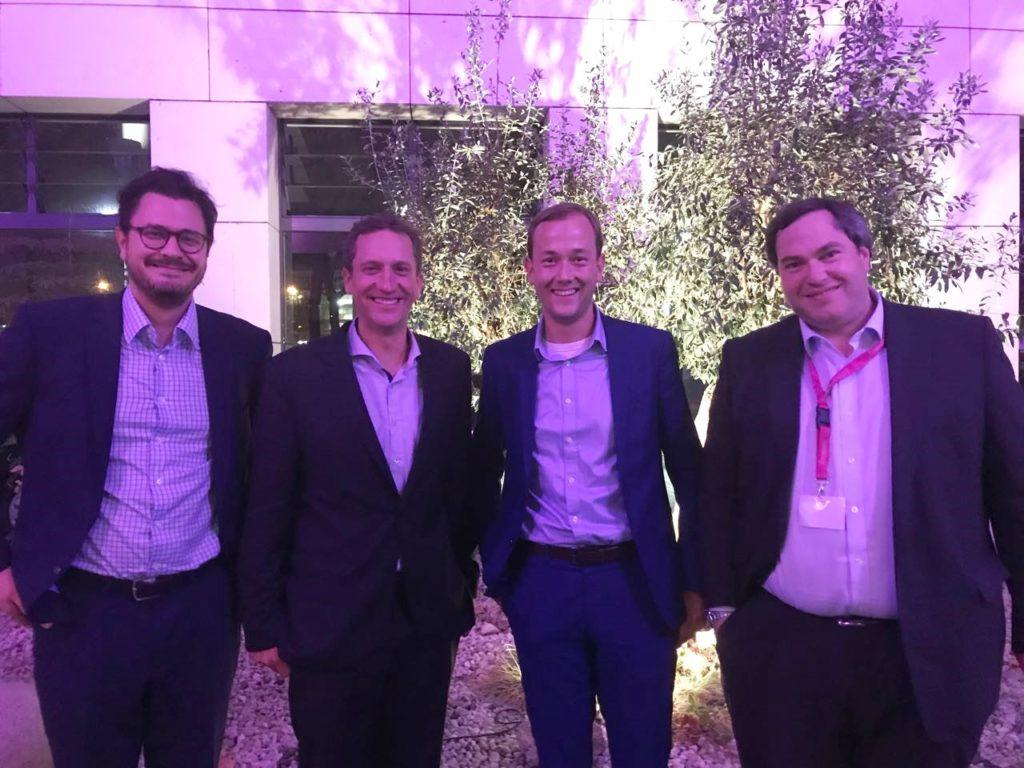 Treffen mit Dominik Lindner (links) und Frederik Wulff (rechts) von Markel Deutschland